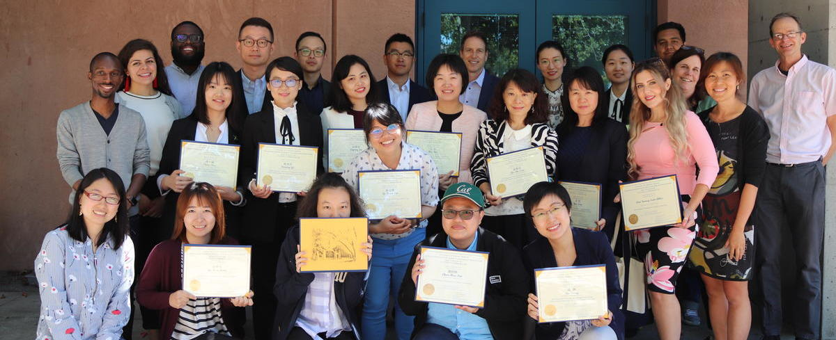 group of counseling professionals with certificates